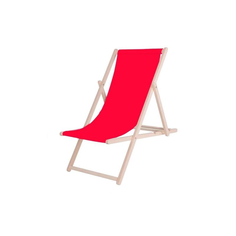 Leżak Drewniany Czerwony SanchoBag