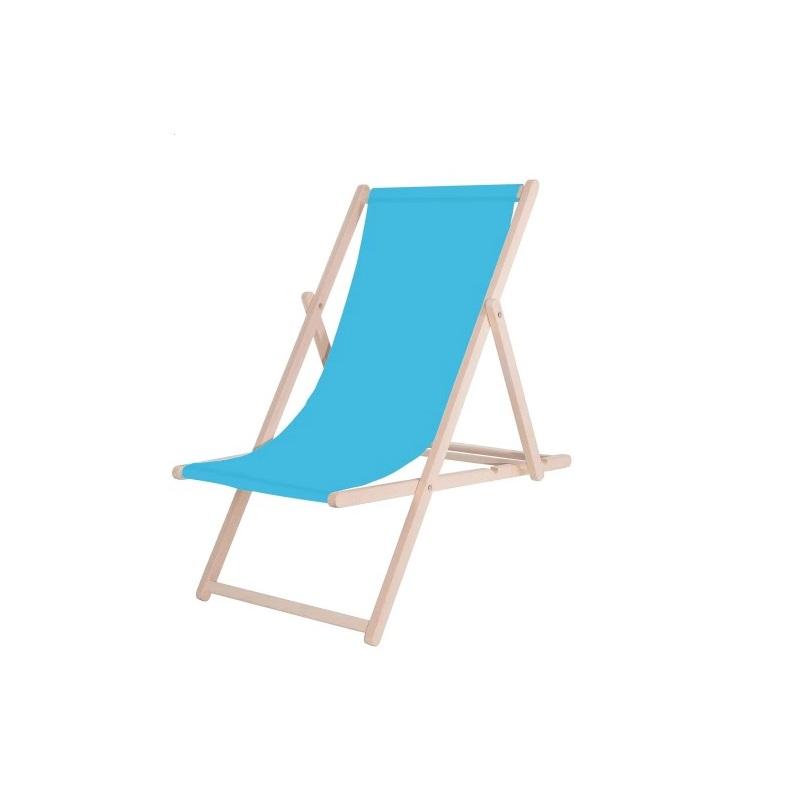 Leżak Drewniany Niebieski SanchoBag