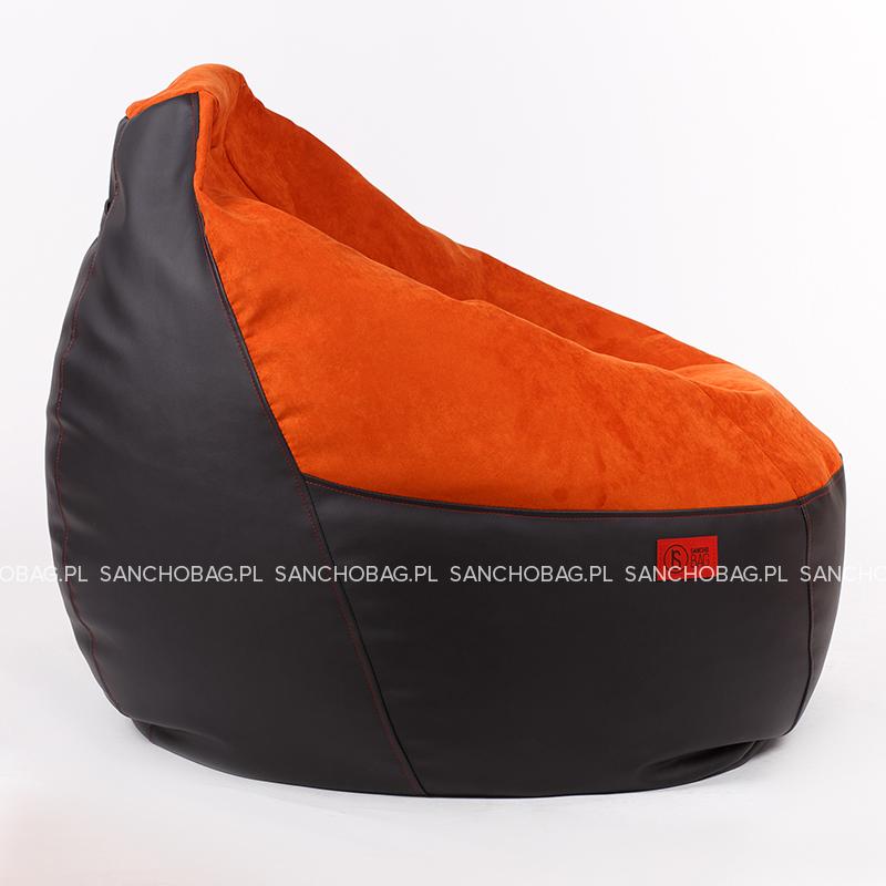 Puff mlodziezowy Black/Orange SanchoBag