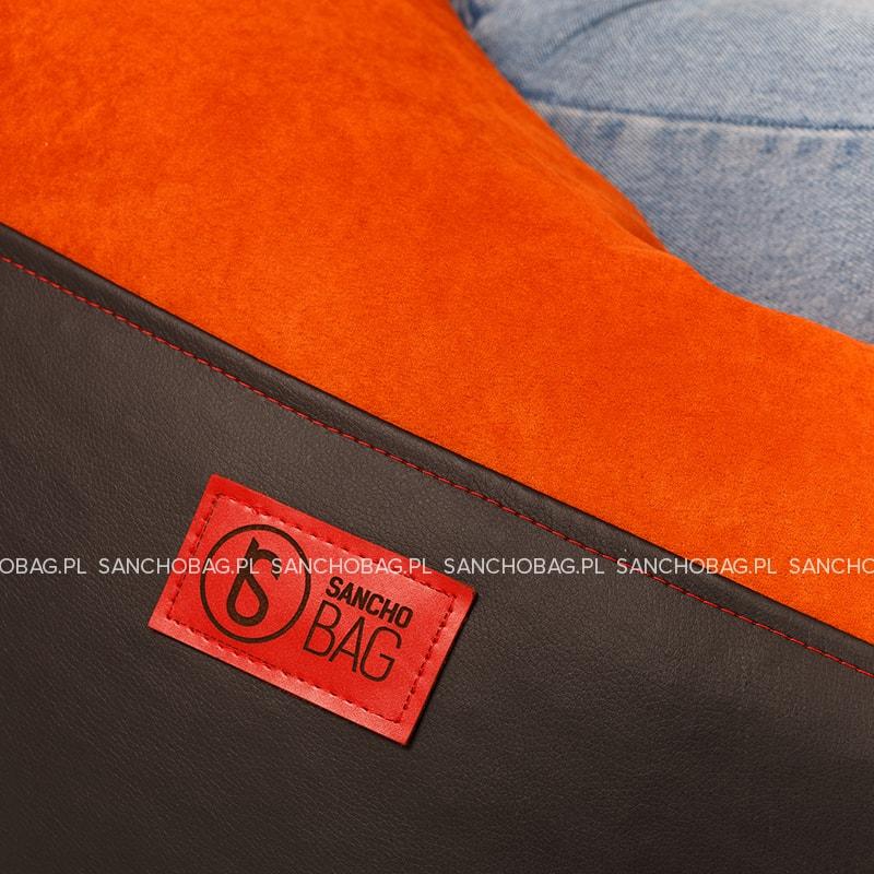 Pufa młodzieżowa Black/Orange SanchoBag