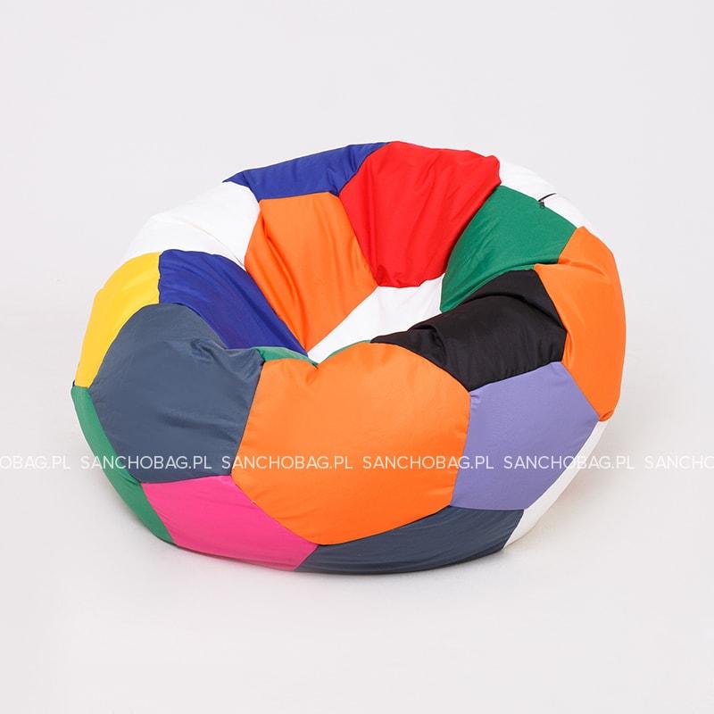 Pufa Piłka kolorowa 90 cm SanchoBag