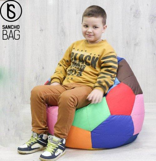 Pufa Piłka kolorowa 70 cm SanchoBag